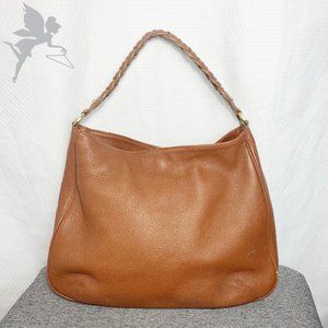 LIKE NEW TALBOT'S Leather braided strap hobo